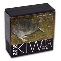 New Zealand- 2018- Silver $1 Proof Coin- 1 OZ Kiwi Series!!!