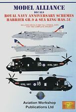 Modello ALLEANZA Decalcomanie 1/48 RN ANNIVERSARIO schemi di Harrier & Westland Sea King #