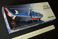 Vintage 1980s Heller Humbrol France 1:50 Scale SA 365 Dauphin Helicopter.