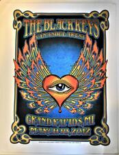 The Black Keys Signed Silk Screen Concert Poster 3/18/12 Van Andel Arena GR, MI