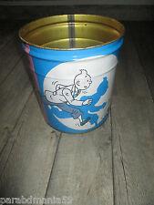 Vente Hergé-Lot-Ancien récipient Tropico grand format+chèques Tintin Alsa(1960)