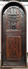 Rustic reclaimed solid lumber Doug Fir Dutch Door arched winery castle hardware