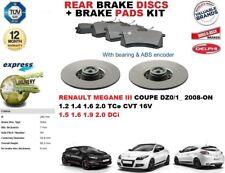 für Renault Megane III Coupe 2008- Bremsscheiben SET HINTEN+Bremsbelagsatz