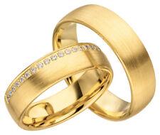 2x JC Trauringe Eheringe Gold Plattierte Verlobungsring inkl.Gravur & Etui JC007