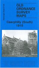 OLD ORDNANCE SURVEY MAP CAERPHILLY SOUTH THE WARREN WERDDU CLAY PITS 1915