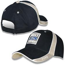Built Ford Tough Navy Blue and Khaki Cotton Adjustable Hat