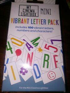 My Cinema Lightbox Mini Vibrant Letter Pack