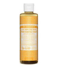 Dr Bronner`s Organic Citrus Castile Liquid Soap (237ml) All Natural - Vegan