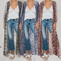 Abaya Women Open Floral Cardigan Summer Beach Kimono Coat Jacket Long Maxi Dress