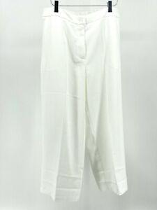 Linen by Louis Dell'Olio Size 14P White Dress Capri Pants (S303-H9)