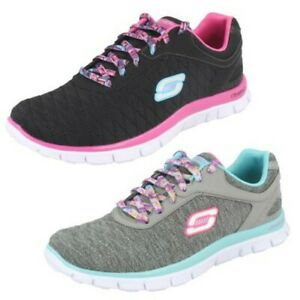 Skechers Girls Lace-Up Trainers - Eye Catcher 81844