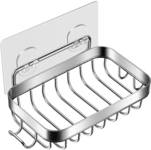 2021 Soap Dish for Shower with Hook 304 Stainless Steel Wall Mounted Bar Soap