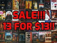 SALE‼ VHS Pick 13 for $13 ~ Lot of Over 400 Selections PLEASE READ Instructions