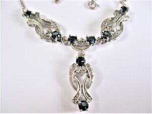 Necklace Silver 925 With Stones Color, 13,87 G