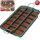 3 Piece Set Nonstick Slice Solutions Brownie Pan Chicago Metallic 9x13