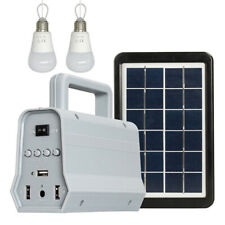 LED Solar Power Panel Generator Kit Bluetooth Speaker USB Charger Home Syst R2D2