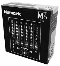Numark M6 USB 4-Ch Professional DJ Mixer with USB Interface Open Box 110V / 240V