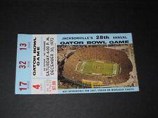 Vintage 1972 Auburn Tigers v. Colorado Gator Bowl football ticket