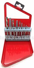 10pc Screw Extractor Left-Hand High Speed Drill Bit Set Easy Out Broken Screw
