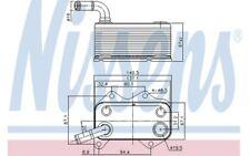 NISSENS Radiador de aceite motor 90660