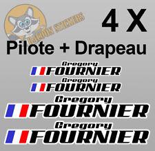 2 X Pilote nom autocollants-voiture de course rallye Motorsport Piste Drapeau Allemand Vinyle