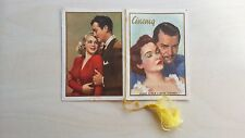 Calendarietto  CINEMA 1958 CLARK GABLE GREGORY PECK SUSAN HAYWARD LANA TURNER