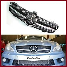 05-08 W219 M Benz Gloss Black Chrome Front Grille CLS550 CLS500 CLS350 4Dr Hood