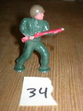 ca 1960'S BARCLAY DIMESTORE LEAD TOY SOLDIER ADVANCING WITH RIFLE #34
