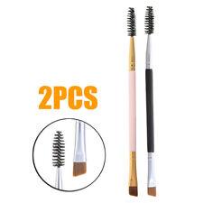 US Eyebrow Brush Dual-ended Duo Brow Eyeliner Angled Spoolie Brush Makeup Tool