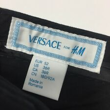 Men's Versace for H&M Casual Dress Chino BLACK Khaki Pants (Size 36R-EUR 52)