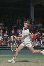 OLD SPORTS PHOTO TENNIS American John Mcenroe Competing at Wimbledon 1977 6
