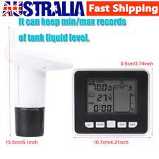 100m Wireless Ultrasonic Water Tank Liquid Level Meter w/Temperature Sensor 1PCS
