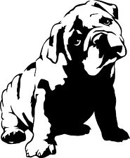 ADESIVO STICKERS DECAL BULLDOG CANI AUTO MOTO ANIMALI LOVE ANIMAL DOG CANE