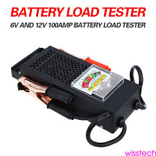 New Battery Load Tester 100 Amp Load Type 6V & 12V Mechanics 6/12 Volt Car Truck