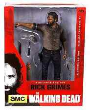 "THE WALKING DEAD TV DELUXE 10"" INCH ACTION FIGURE RICK GRIMES VIGILANTE EDITION"
