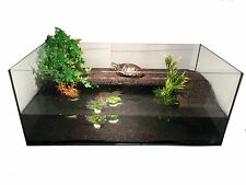120x60x50 cm Glas Becken Aquarium Schildkröten Wasserschildkröten Landteil Kork