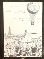 1959 Bern Switzerland Balloon Flight Postcard Cover to Thalwil