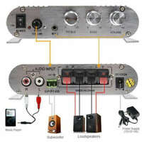Mini Hi-Fi 2.1 Amplifier Booster Radio MP3 Stereo for Car Home Subwoofer 2 JHA