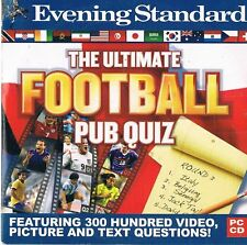 ULTIMATE FOOTBALL PUB QUIZ: PC/MAC – PROMO CD-ROM VIDEO GAME - 300 QUESTIONS