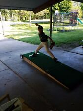 """Tri-Fold Portable Pitching Mound! 8"""" Ages 13-15! Easy to Set-Up and Roll Around!"""