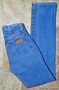 Vintage Wrangler Cowboy Western High Waist Mom Blue Jean 27x34 Made in USA