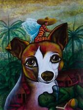 Original Art Arte  Painting Cuban Santiago Cuba Artist LEONARDO RUBIO BRIDON 83