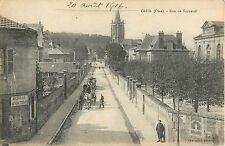 Wagons on Rue de Verneuil, Creil France 1916