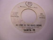 Santa Fe Ball Tonight/As Long As The Grass Grows 45 RPM RTV Records EX promo