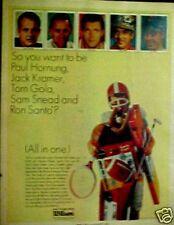 1966 Paul Hornung~Packers~Jack Kramer~Norm Snead~Ron Santo~Cubs Wilson Sports Ad