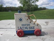 Vintage Childhood Interests Toys Co. Lacing Shoe Learning Toy BX5