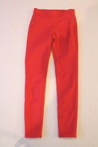 Justice Solid Red Mid Rise Legging Pants Girl Size 8 Slim Jeggings WORN ONCE