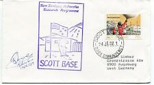 1987 New Zealand Antarctic Research Programme Ross Dependency Polar Cover SIGNED