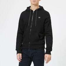 $299 MICHAEL KORS MEN'S BLACK LONG-SLEEVE SWEATER ZIP HOODIE SIZE L *REPAIRED*