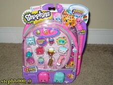 Shopkins Season 5 12 Pack w/Surprise Charm +2 Backpacks BRAND NEW SEALED In Hand